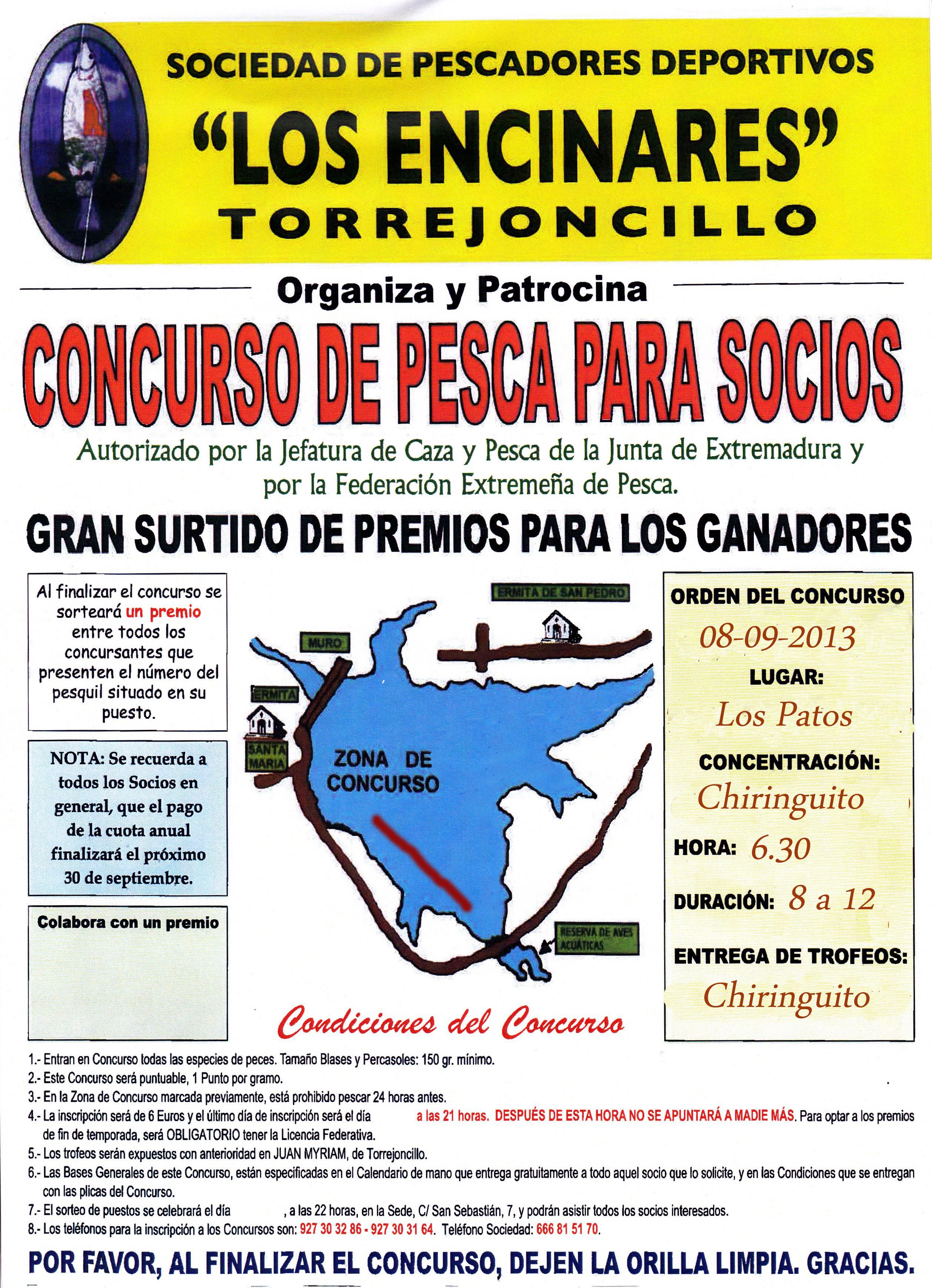 """La Sociedad de Pescadores """"Los Encinares"""" celebrara el día de Extremadura un nuevo concurso de pesca"""