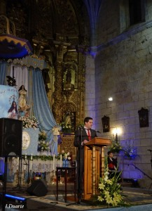 Antonio Testón durante su intervención previa al Pregón de las Fiestas 2012 - ISMAEL DUARTE