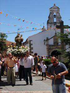 El santo saldrá en procesión en dos ocasiones - ARCHIVO