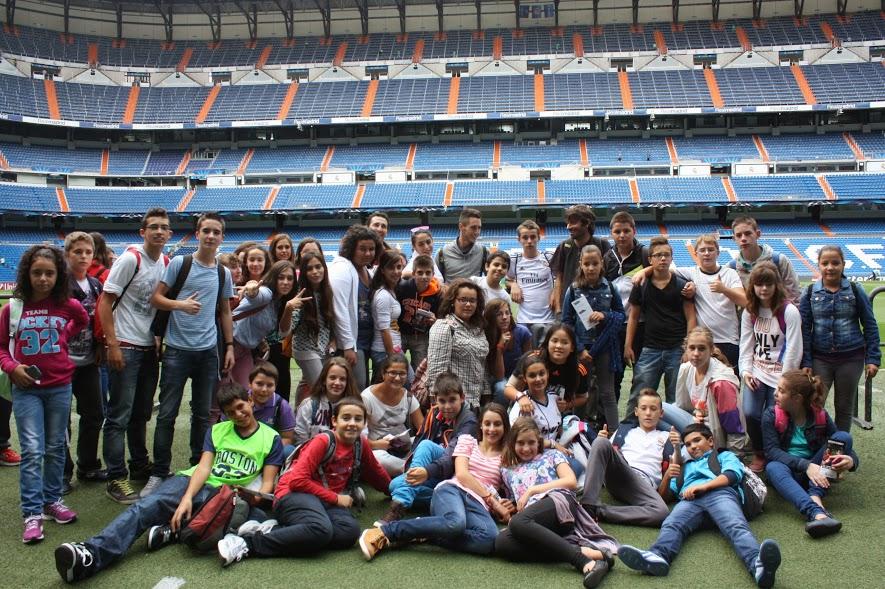 Los alumnos del IESO Vía Dalmacia se fueron de Champions al Bernabeu