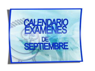 Calendario de exámenes de septiembre en el IESO Vía Dalmacia