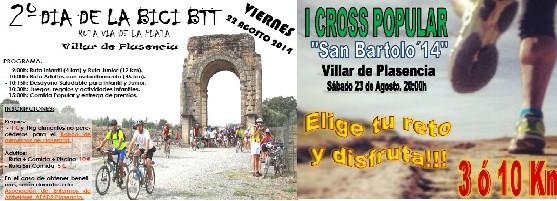 II Día de la Bici y I Cross popular «Ruta Vía de la Plata» Villar de Plasencia