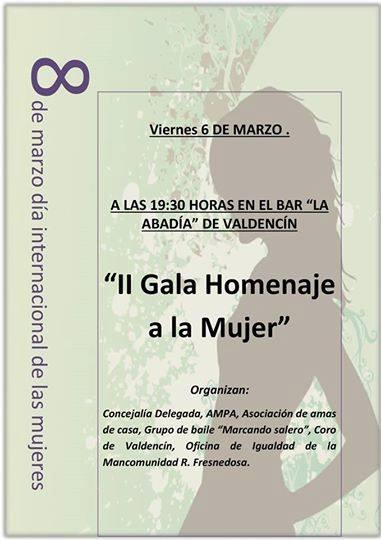 II Gala homenaje a la Mujer en Valdencín
