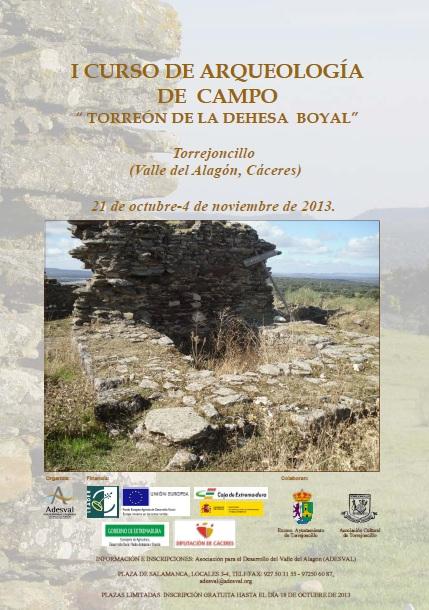 """I Curso de Arqueología de Campo """"Torreón de Torrejoncillo"""""""