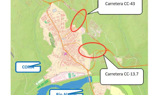 La Diputación de Cáceres invierte 1 millón de euros en Coria para la mejora de accesos a la ciudad