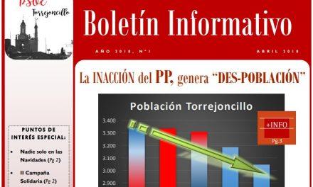Nuevo Boletín Informativo de PSOE Torrejoncillo