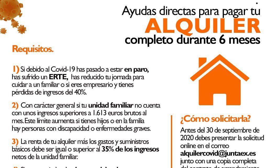 Ayudas al alquiler de la Junta de Extremadura