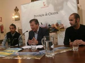 Presentación del I Kilómetro Vertical en el Palacio de Carvajal de Cáceres - CEDIDA