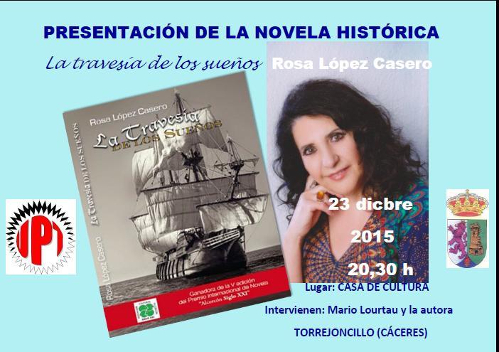 Rosa López, presenta el libro La travesía de los sueños
