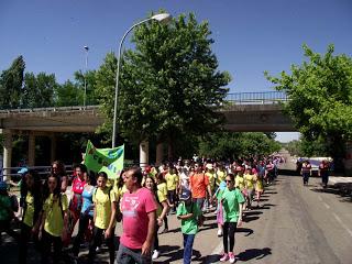 La marcha por el día sin tabaco atrae a 400 personas de Coria, Puebla de Argeme y Rincón del Obispo