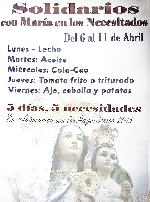 Portaje se solidariza con los más necesitados con la Virgen del Casar.