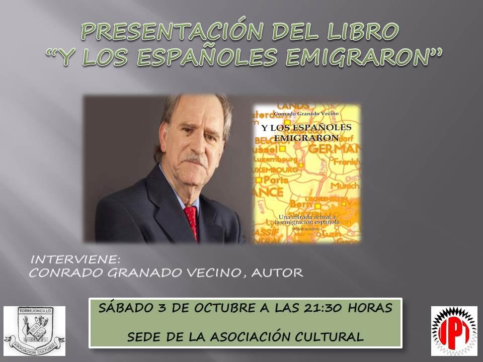 Conrado Granado Vecino presenta su libro en Torrejoncillo