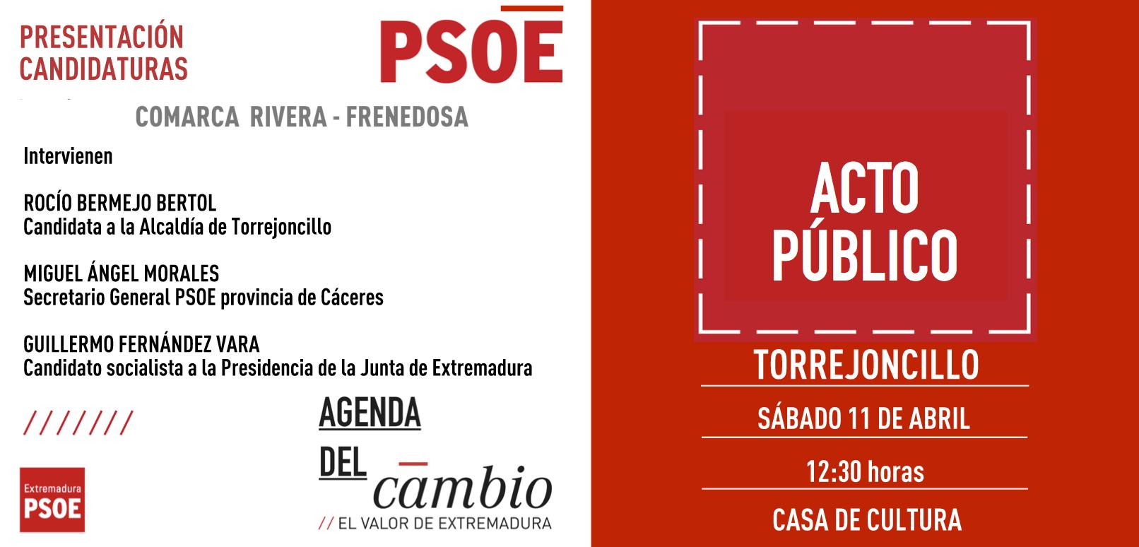 Guillermo Fernández Vara presentará en Torrejoncillo a los candidatos de la Comarca