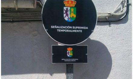 Señalización Suprimida temporalmente en Calle Barrio Nuevo