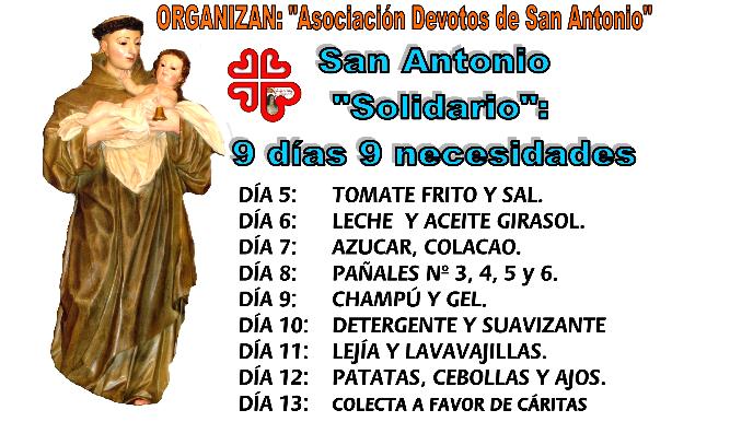 """""""San Antonio Solidario, 9 días, 9 necesidades"""""""