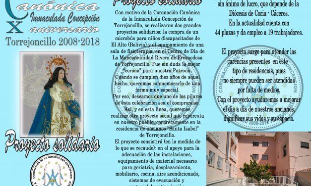 Proyecto solidario X Aniversario Coronación Canónica de la Inmaculada Concepción